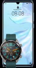 Huawei P30 Light Blue + Smartwatch GT Active